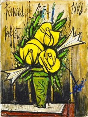 Bernard Buffet | Roses jaunes et lys, 1998