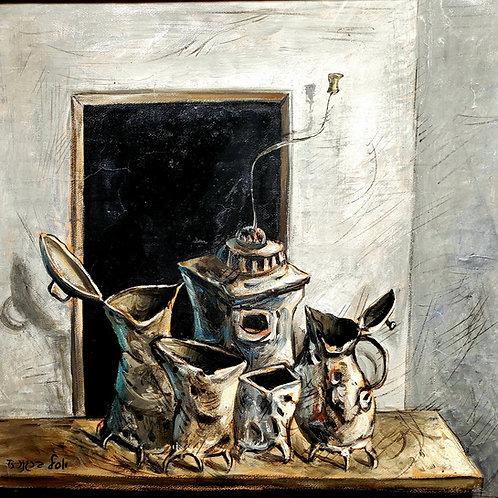 Yosl Bergner Still life, 1973