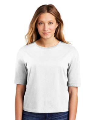District Ladies Boxy Tee White