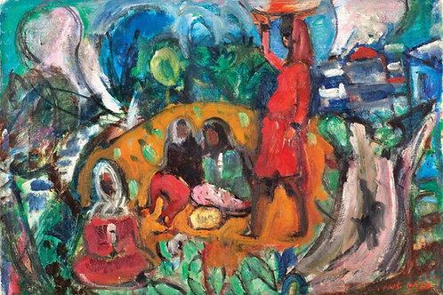 Menachem Shemi  Women in the village, 1950's