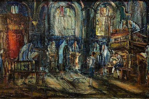 Zvi Raphaeli Interior of a Synagogue