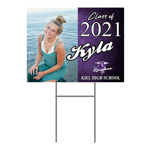 Kiel Yard Sign #3 with Photo and Name  Two Sided