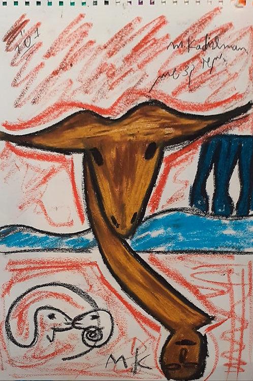 Menashe Kadishman Untitled