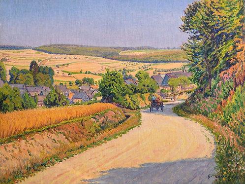 Cariot   Charrette sur le chemin fleuri, 1929