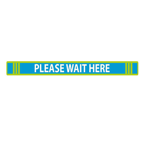Wait Here Rectangular Floor Decal