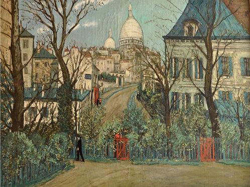 Alphonse Leon Quizet Urban landscape