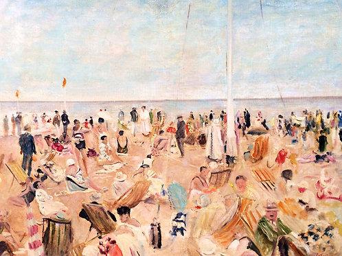 Lucien Adrion   Beach scene, 1939