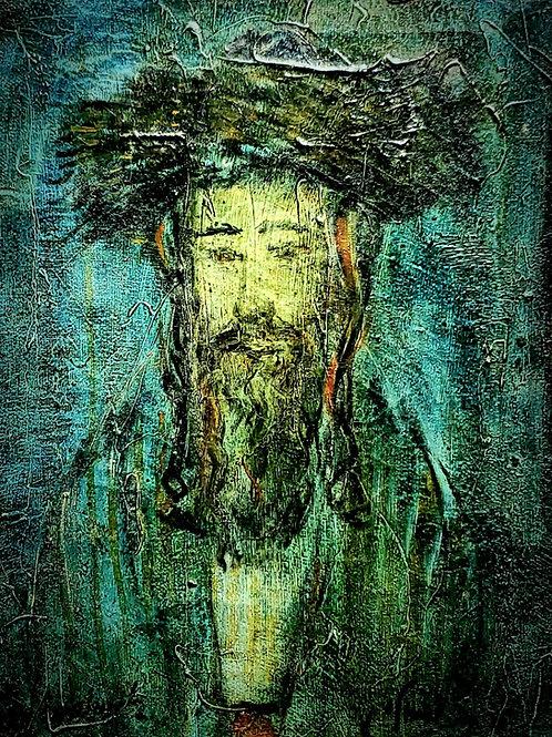 Zvi Raphaeli Portrait of religious man