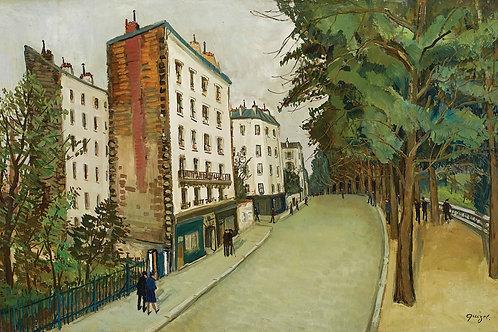 Alphonse Leon Quizet Parisian street view