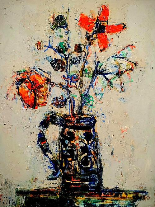 Paul Aizpiri Still life of flowers