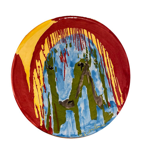 Menashe Kadishman Sheep ceramic plate