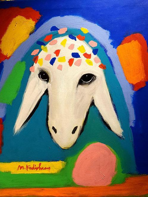 Menashe Kadishman  Sheep head