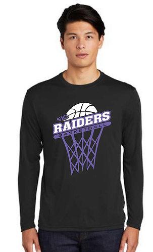 Raider Boys Basketball Sport Tek Posi-Charge Long Sleeve TShirt BLACK