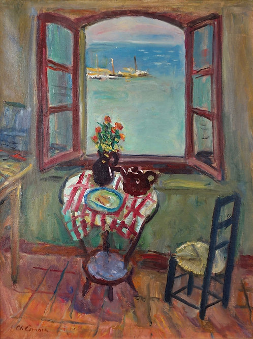 Charles Camoin   Fenetre de l'atelier, Saint-Tropez