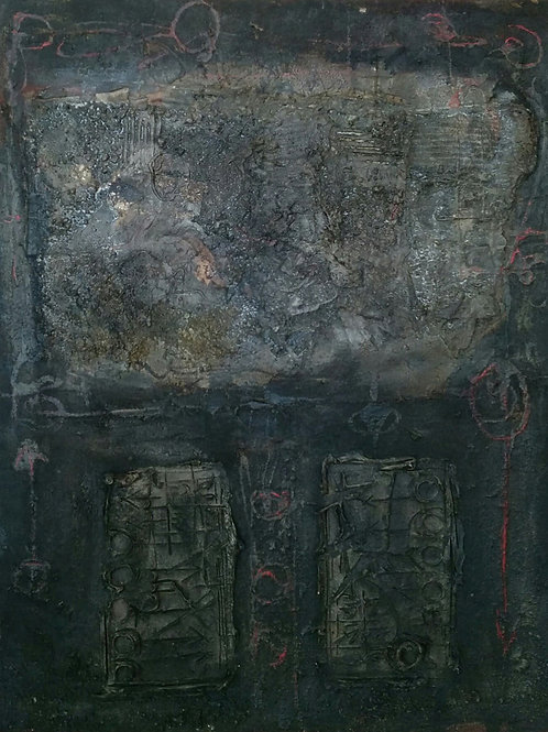 Untitled in black and red, 1959
