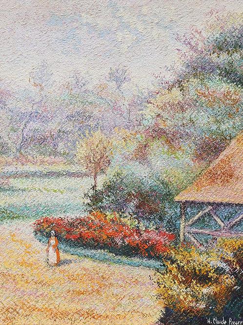 Garden view in Monts de Cerisy