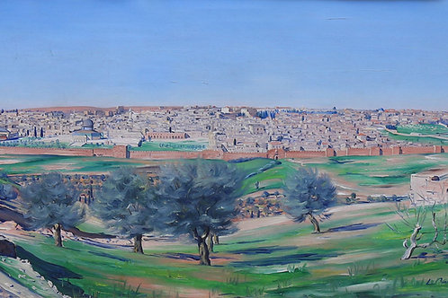 Ludwig Blum | View of the old city, Jerusalem, 1927