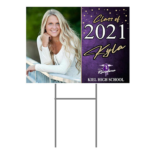 Kiel Yard Sign #2 with Photo and Name  Two Sided