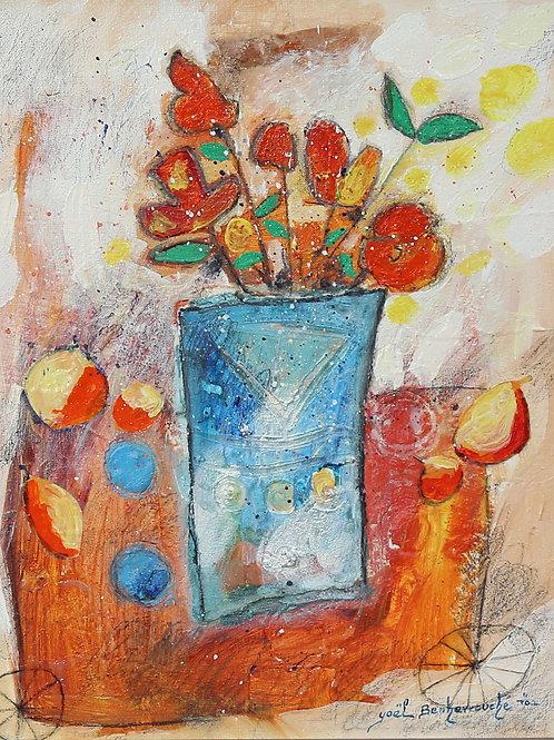 Yoel Benharrouche Still life with flowers