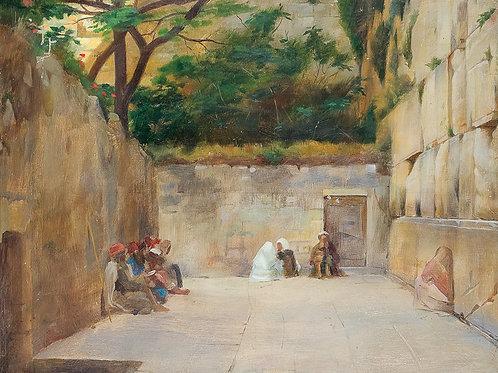 Theodore Jacques Ralli    Wailing Wall, Jerusalem