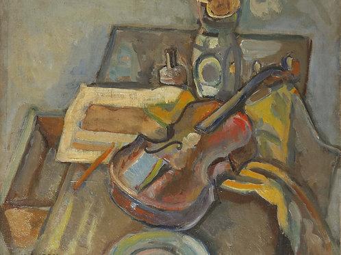 Nature morte au violon, c.1918