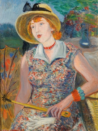 Constantin Terechkovitch Jeune femme a l'ombrelle, ca. 1930