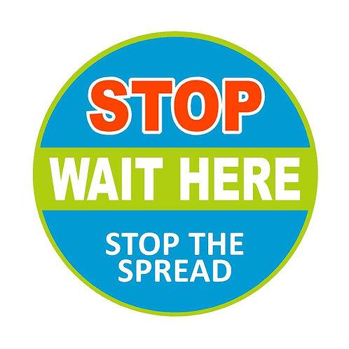 Stop Wait Here #1 Floor Decal