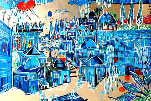 Touvia Jerusalem in Blue