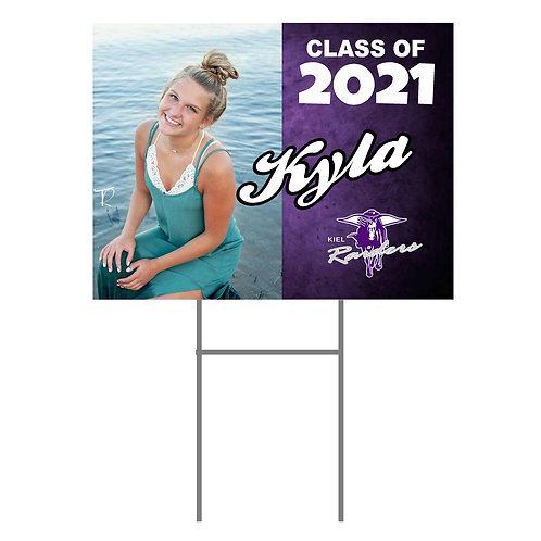 Kiel Yard Sign #1 with Photo and Name Two Sided