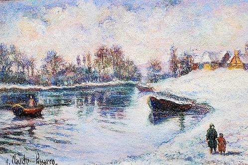 Hugues Claude Pissarro Walking in a snowy landscape