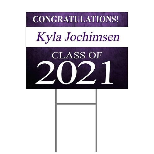 Kiel Yard Sign with Name #1  Two Sided