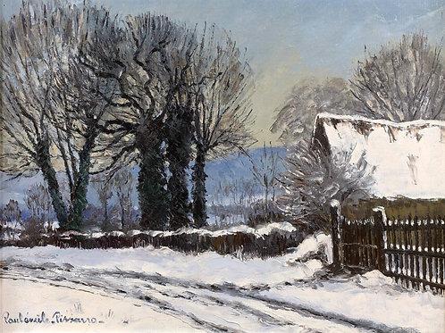 Landscape under snow, Clercy