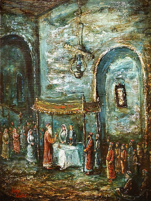 Moshe Castel Jewish Wedding scene