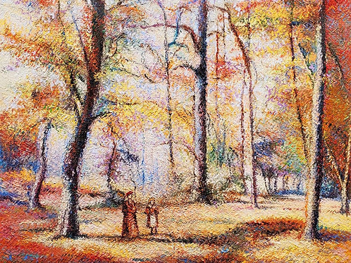 Hugues Claude Pissarro Walk in the Marly forest