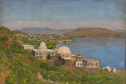 Ludwig Blum   Rabbi Meir Baal Hanes Tomb, Tiberius, 1947