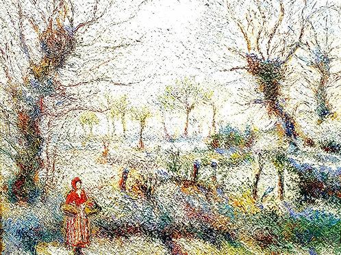 Hugues Claude Pissarro Figure in a landscape