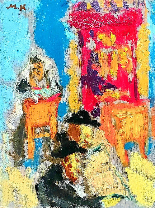 Mane Katz In the synagogue