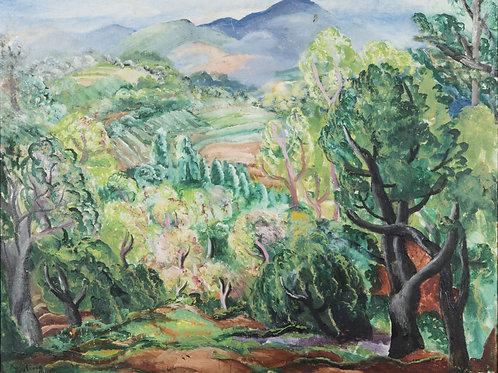 Paysage mיditerranיen, c. 1918