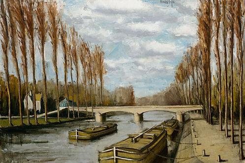 Bernard Buffet   Melun, la Seine, automne, 1974