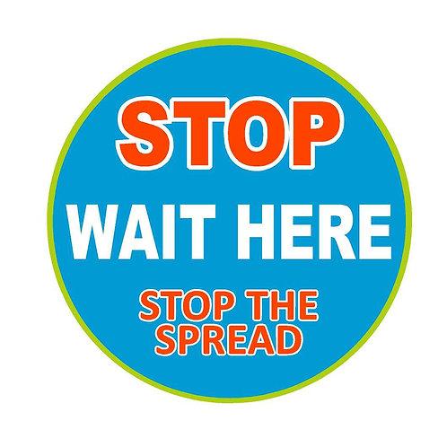Stop Wait Here #2 Floor Decal
