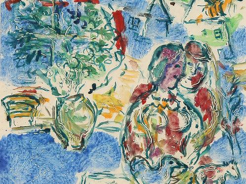 Marc Chagall | Le Soir au Village, 1966
