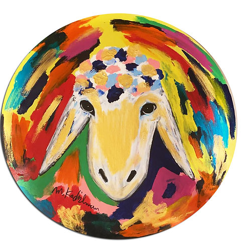 Menashe Kadishman Round sheep head