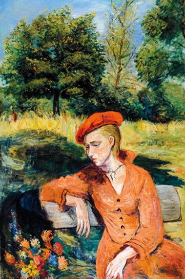 Constantin Terechkovitch Jeune fille dans un jardin