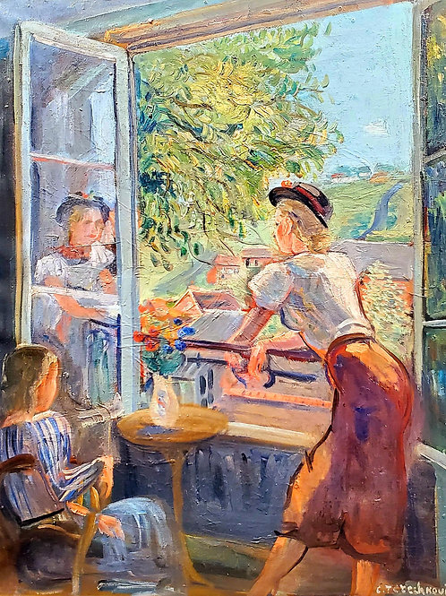 Constantin Terechkovitch A la fenêtre