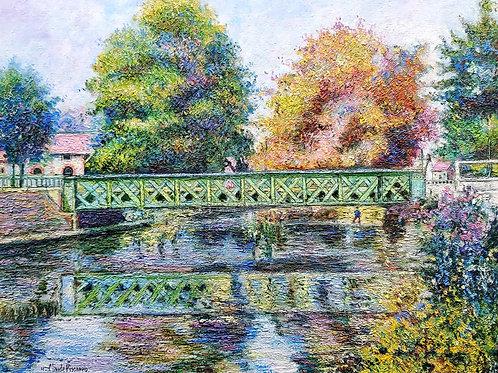 Hugues Claude Pissarro Bridge over river