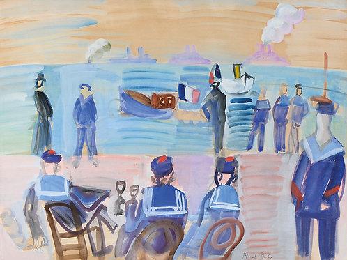 Marins sur la côte, 1925