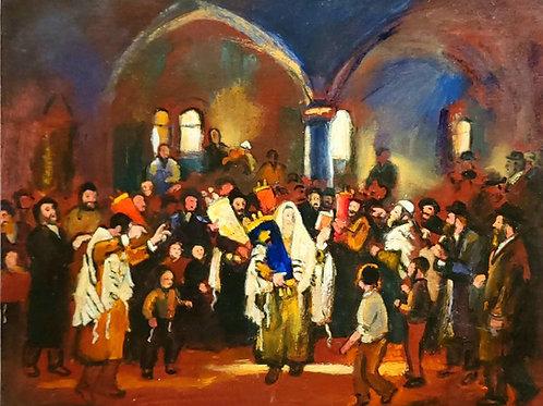 Zvi Malnovitzer Simchat Torah in a Synagogue