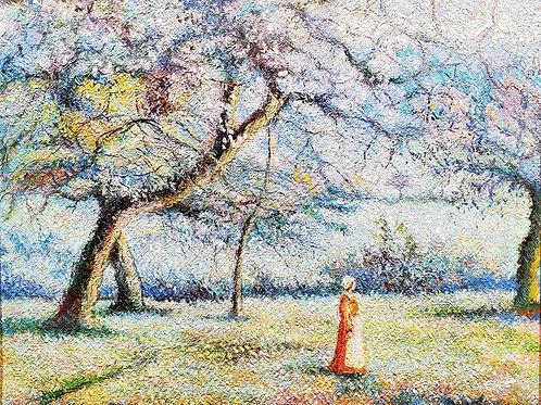 Hugues Claude Pissarro Apple trees in blossom