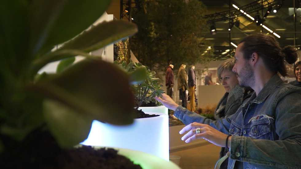 Bioo Installations at corporate event plants activating light