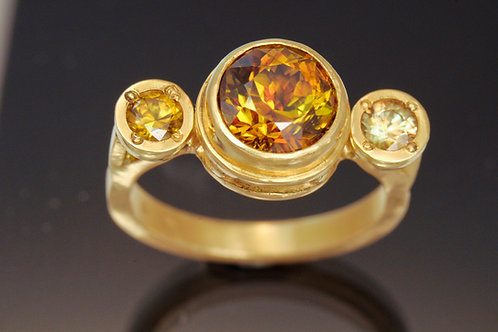 3 Stone Gold Ring